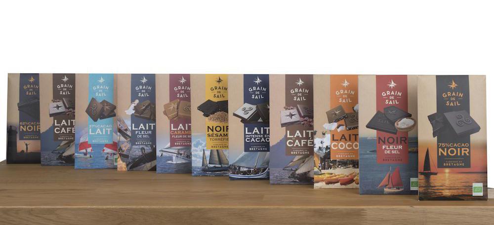 tablettes chocolat Grain de Sail