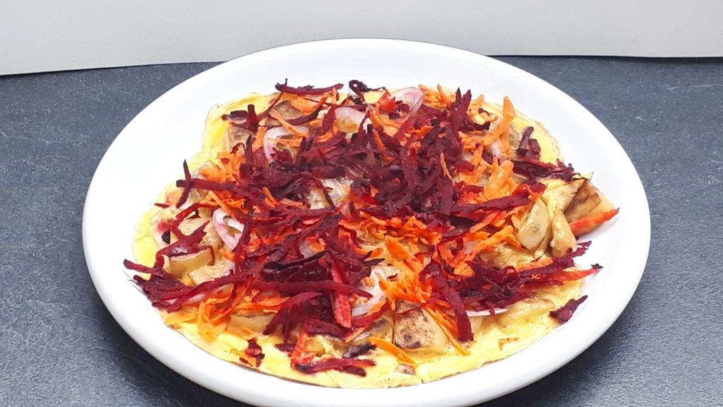 omelette betterave rouge