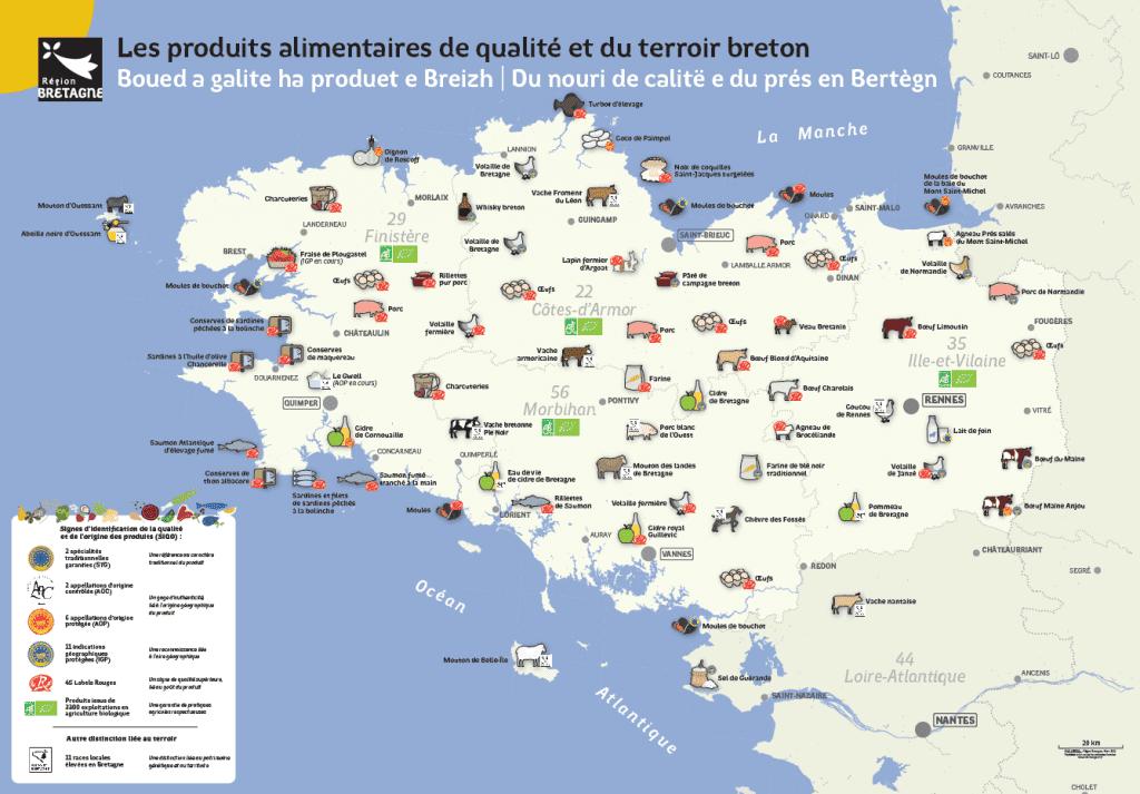 Les produits alimentaires de qualite du terroir breton
