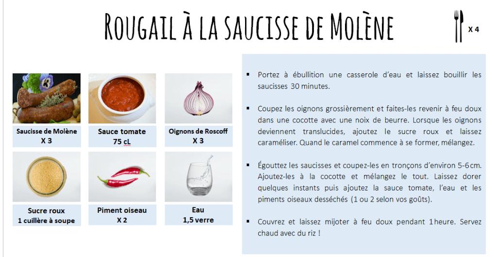 Rougail a la saucisses de Molene